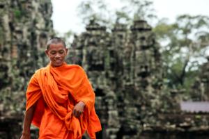 angkor-archeological-site-cambodia-monk